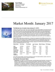 thumbnail of January 2017 Market Review
