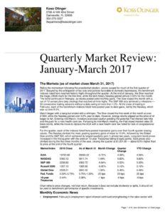 thumbnail of First Quarter 2017 Market Recap