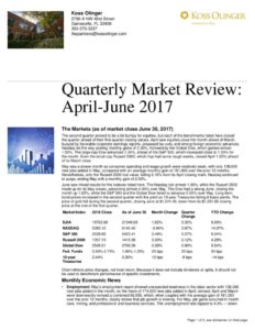 thumbnail of Second Quarter 2017 Market Review