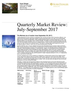 thumbnail of 3rd Quarter 2017 Market Review