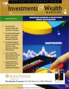 Investments and Wealth Monitor April 2013