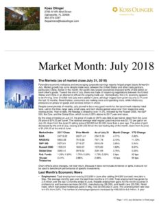 thumbnail of Market Recap July 2018