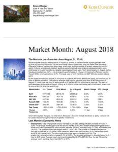 thumbnail of August 2018 Market Recap