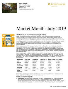 thumbnail of July 2019 Market Review