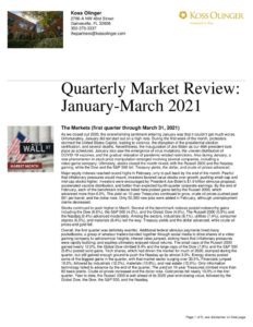 thumbnail of Quarter One 2021 Market Review