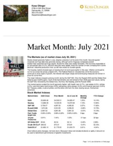 thumbnail of July 2021 Market Month